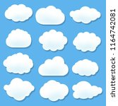 cloud icons with blue...   Shutterstock . vector #1164742081