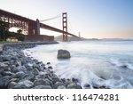 golden gate bride at sunset.... | Shutterstock . vector #116474281