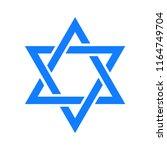 jewish israel symbol star of... | Shutterstock .eps vector #1164749704