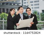 business man and woman engineer ... | Shutterstock . vector #1164752824