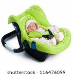newborn baby in a car seat ... | Shutterstock . vector #116476099