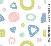childish seamless pattern with...   Shutterstock .eps vector #1164765571