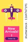 retro styled plane with the... | Shutterstock .eps vector #1164767191