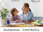 funny mother and child daughter ... | Shutterstock . vector #1164782311