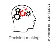 thinking disorder  attention... | Shutterstock .eps vector #1164783721