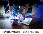 digital marketing media ... | Shutterstock . vector #1164788407