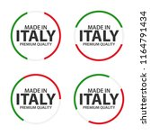 set of four italian icons  made ... | Shutterstock .eps vector #1164791434