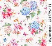 vector vintage floral seamless... | Shutterstock .eps vector #1164791491