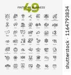 set of 49 business and fintech... | Shutterstock .eps vector #1164793834
