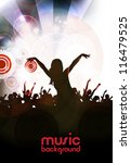 music event background | Shutterstock .eps vector #116479525