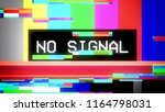 glitched transmission ... | Shutterstock . vector #1164798031