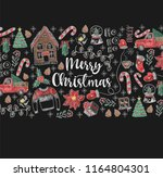 banner of  merry christmas with ... | Shutterstock .eps vector #1164804301