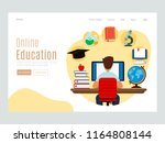concepts of education and e... | Shutterstock .eps vector #1164808144