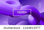 modern colorful liquid shape.... | Shutterstock .eps vector #1164813577