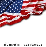 closeup of american flag on... | Shutterstock . vector #1164839101