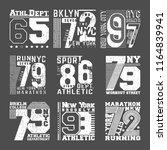 t shirt print stamp design. set ... | Shutterstock .eps vector #1164839941