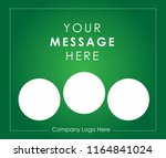 template of square web green... | Shutterstock .eps vector #1164841024