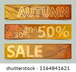 discount banners with yellow... | Shutterstock .eps vector #1164841621
