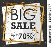black big sale in golden frame... | Shutterstock .eps vector #1164841747