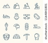 climbing line icons | Shutterstock .eps vector #1164841801