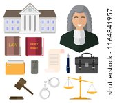 judge  isolated icons on white... | Shutterstock .eps vector #1164841957