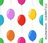 vector cartoon balloons... | Shutterstock .eps vector #1164847111