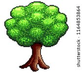 pixel big tree detailed and... | Shutterstock .eps vector #1164853864