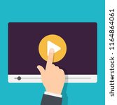 video tutorials icon. video... | Shutterstock .eps vector #1164864061