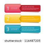 three vector paper tags  ... | Shutterstock .eps vector #116487205