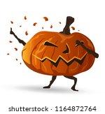 dabbing halloween pumpkin... | Shutterstock .eps vector #1164872764