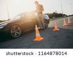 driving school or test.... | Shutterstock . vector #1164878014