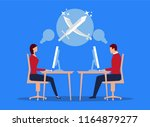work and competition | Shutterstock .eps vector #1164879277