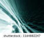 abstract grey 3d rendered... | Shutterstock . vector #1164882247