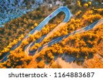 Aerial View Of Mountain Curve...