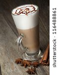 coffee cup and beans  cinnamon... | Shutterstock . vector #116488861