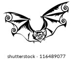 halloween bat stylized tattoo | Shutterstock .eps vector #116489077