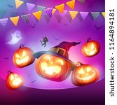 halloween celebration fun party.... | Shutterstock .eps vector #1164894181