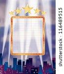 vector blank billboard over the ... | Shutterstock .eps vector #116489515