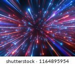 3d render  red blue fireworks ... | Shutterstock . vector #1164895954