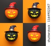 halloween holiday concept with... | Shutterstock . vector #1164902347