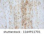 texture of rusty metal plate... | Shutterstock . vector #1164911701