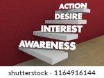 awareness interest desire... | Shutterstock . vector #1164916144