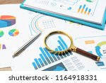 checking financial reports.... | Shutterstock . vector #1164918331