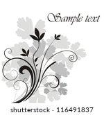 floral background | Shutterstock .eps vector #116491837