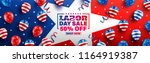 labor day sale poster template... | Shutterstock .eps vector #1164919387