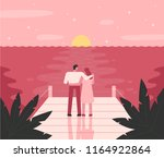 a romantic mood of a couple... | Shutterstock .eps vector #1164922864