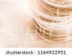 stock market or forex trading... | Shutterstock . vector #1164922951