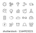 simple set of vector line icon  ... | Shutterstock .eps vector #1164923221