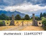 farm gate at epuyen  chubut.... | Shutterstock . vector #1164923797