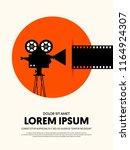 movie and film modern retro... | Shutterstock .eps vector #1164924307